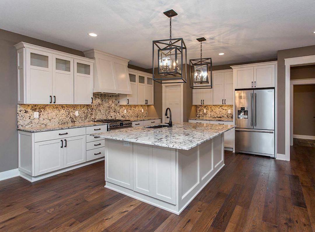White Granite Countertops : Alaskan white granite countertops iowa remodels