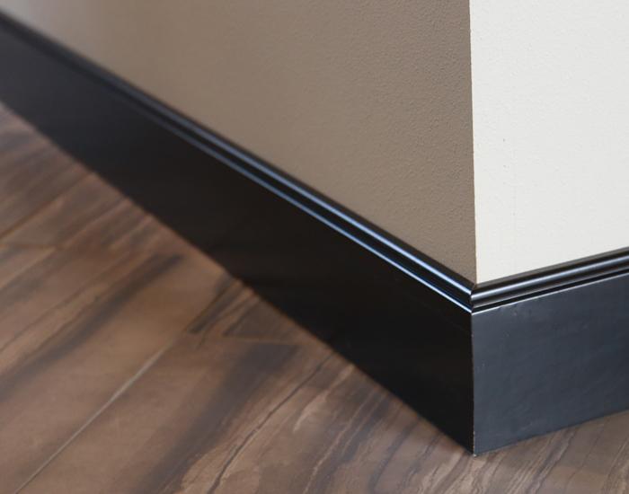 Black Painted Baseboard Trim Iowa Remodels