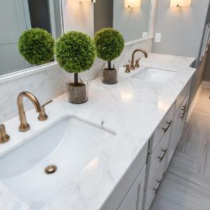 Genial Calcutta Gold Marble Bathroom Countertop ...