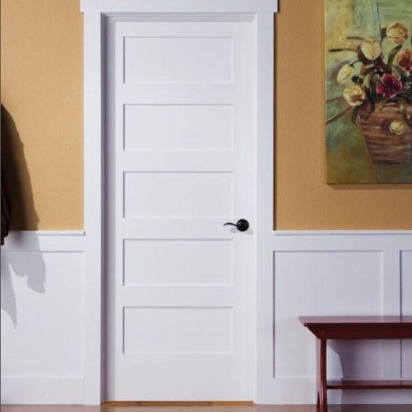 Interior Shaker Door White Ladder 5 Panel