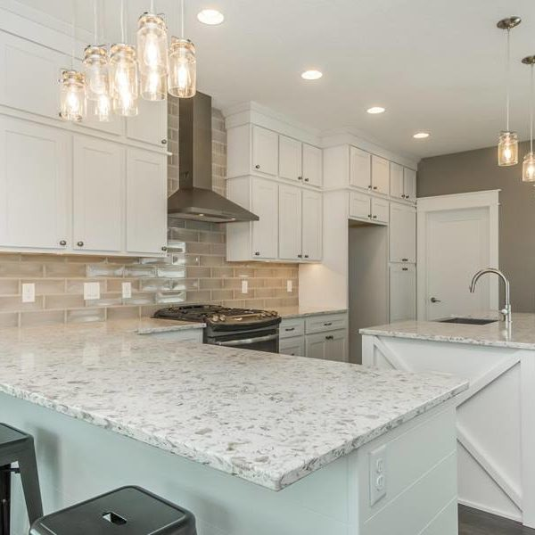 Alaskan White Granite Countertops - Iowa Remodels