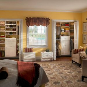 Double Bifold Doors in Bedroom Closet
