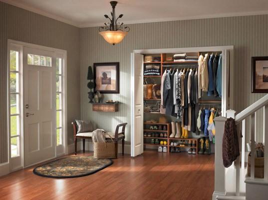 Bi-Fold Doors in Entry Way Of Home Remodel