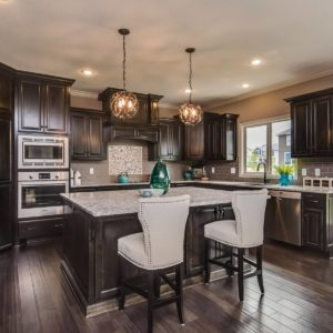 Black Stained Kitchen Cabinets
