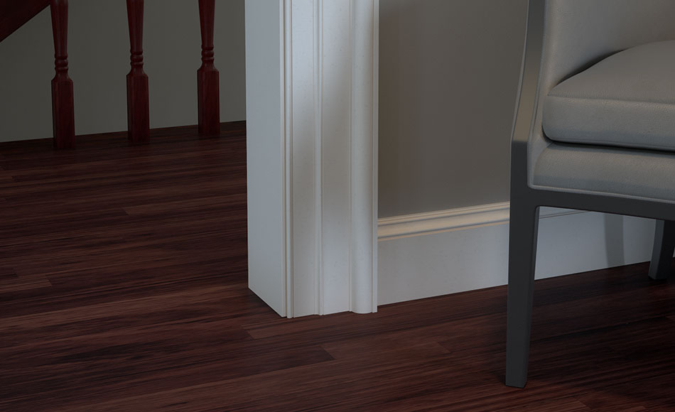 Classic Wide White Baseboard Trim Without Shoe Iowa Remodels