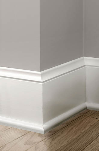 Colonial Revival White Baseboard Trim