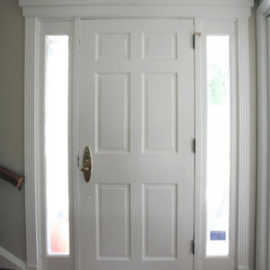 Trim On Front Entry Door