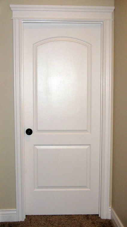 Interior Door with Crown & Crown Trim on Top of Interior Door - Iowa Remodels