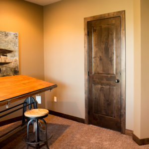Knotty Alder Wood Stained Baseboard Trim