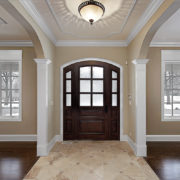 Medium White Baseboard Trim Entry