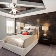 Reclaimed Wood Bedroom Accent Wall