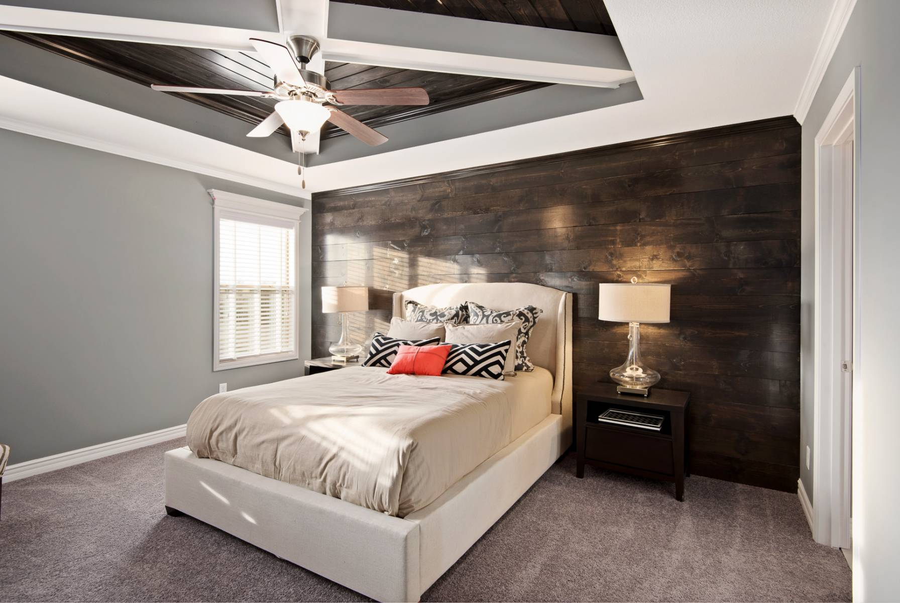 Reclaimed Wood Bedroom Accent Wall - Iowa Remodels