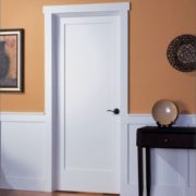 White Interior Shaker Door 1 Panel