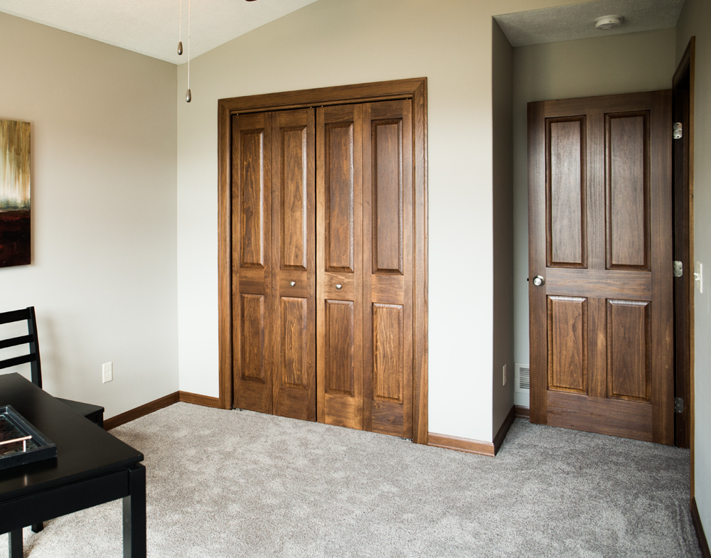 Stained Poplar Baseboard Trim - Iowa Remodels