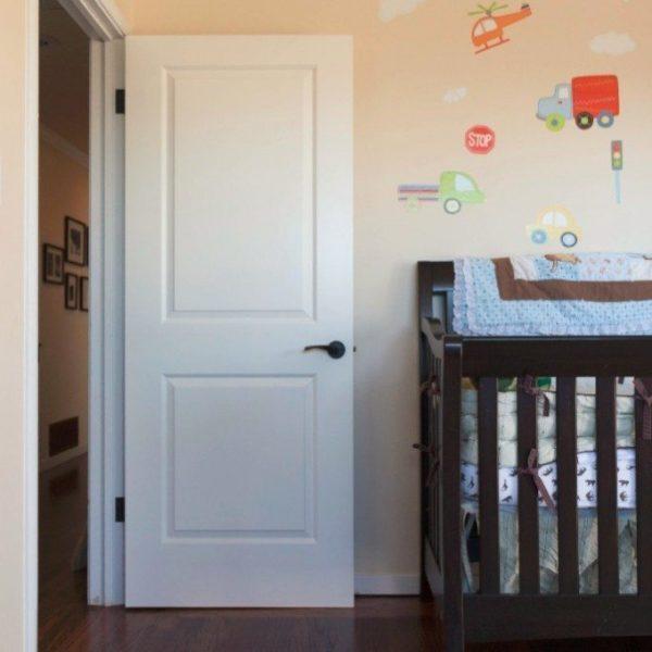 White 2 Panel Interior Door