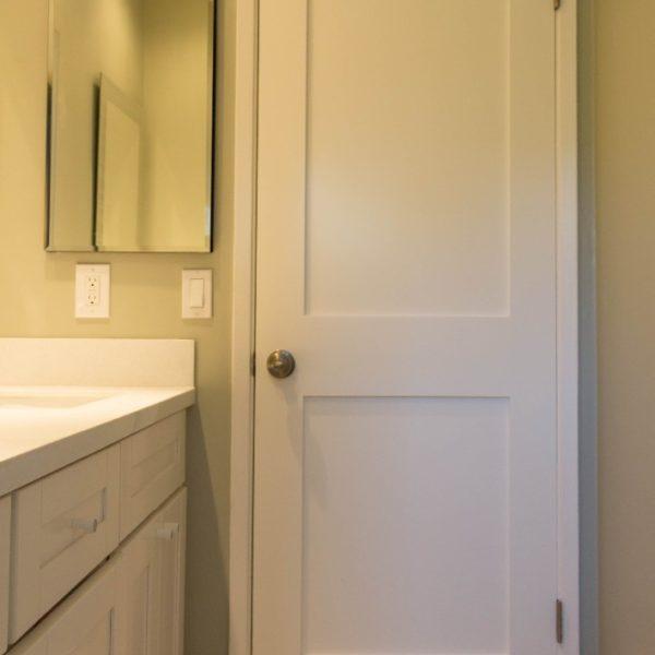 White Interior Shaker Door 2 Panel