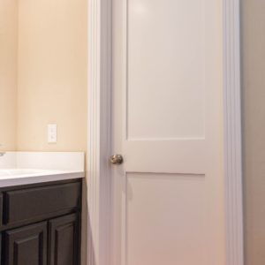 White 2 Panel Shaker Interior Remodel Door