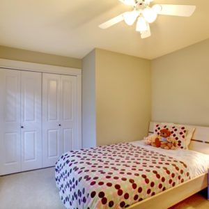 White Bi-Fold Closet Doors