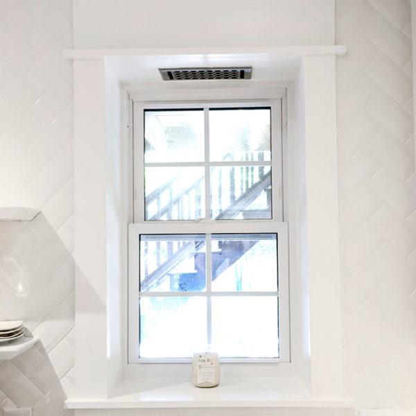Window Sill Header White Trim