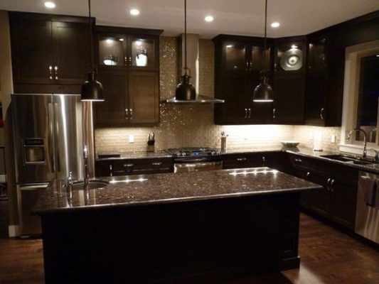 Black Woodwork in Kitchen Remodeling