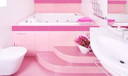 Pink Bathroom From Home Remodeling Project